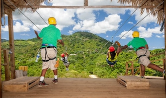 Ziplines & Monkeyland Adventure from Punta Cana