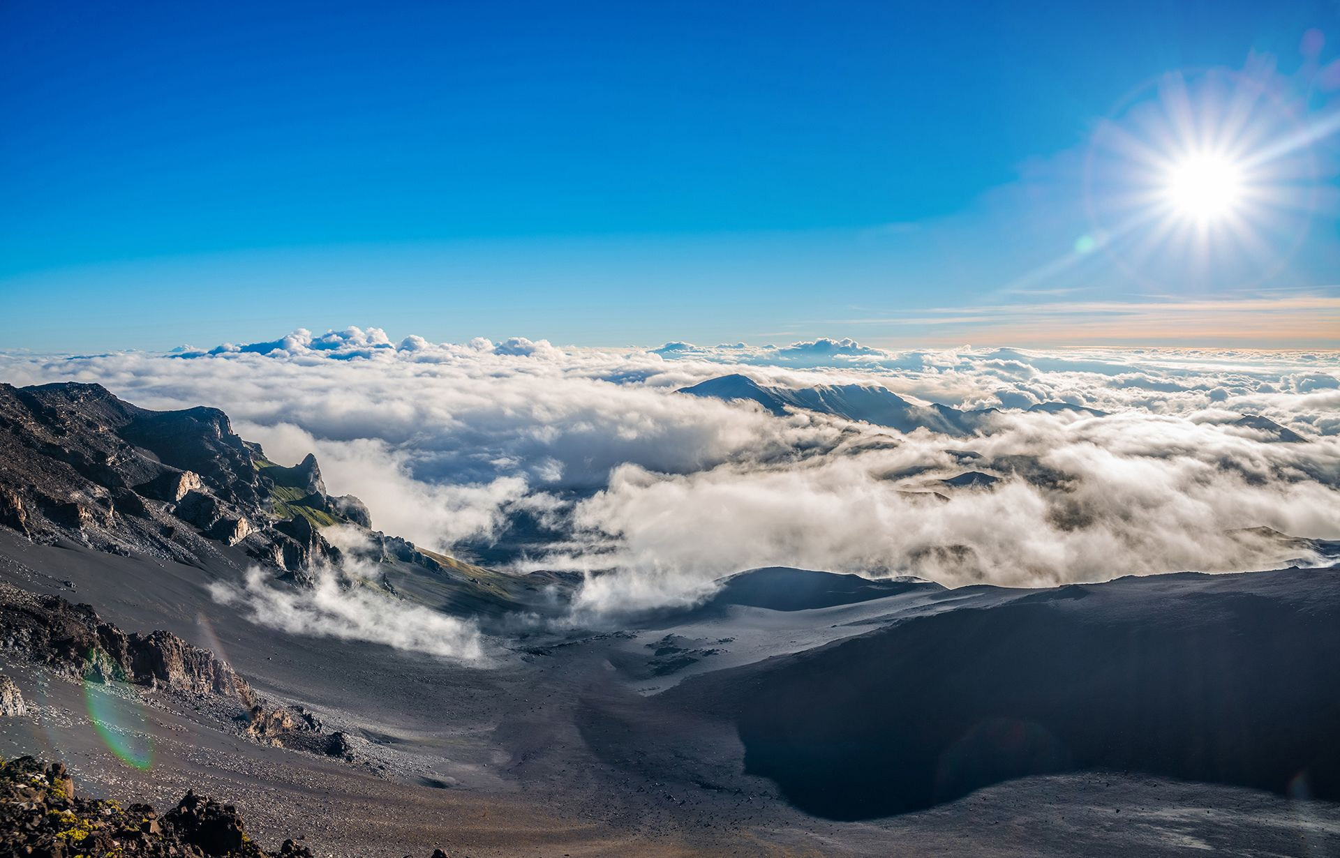 Sunrise view of the Haleakal? Crater