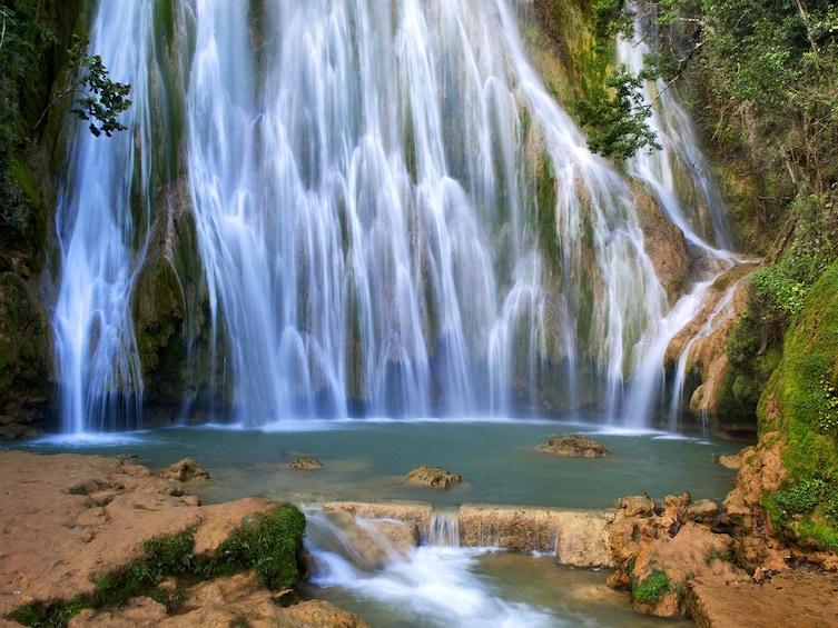 El Limon waterfall in the Dominican Republic