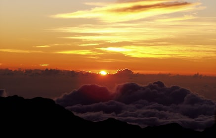 Sunrise view from the top of Mt. Haleakala.