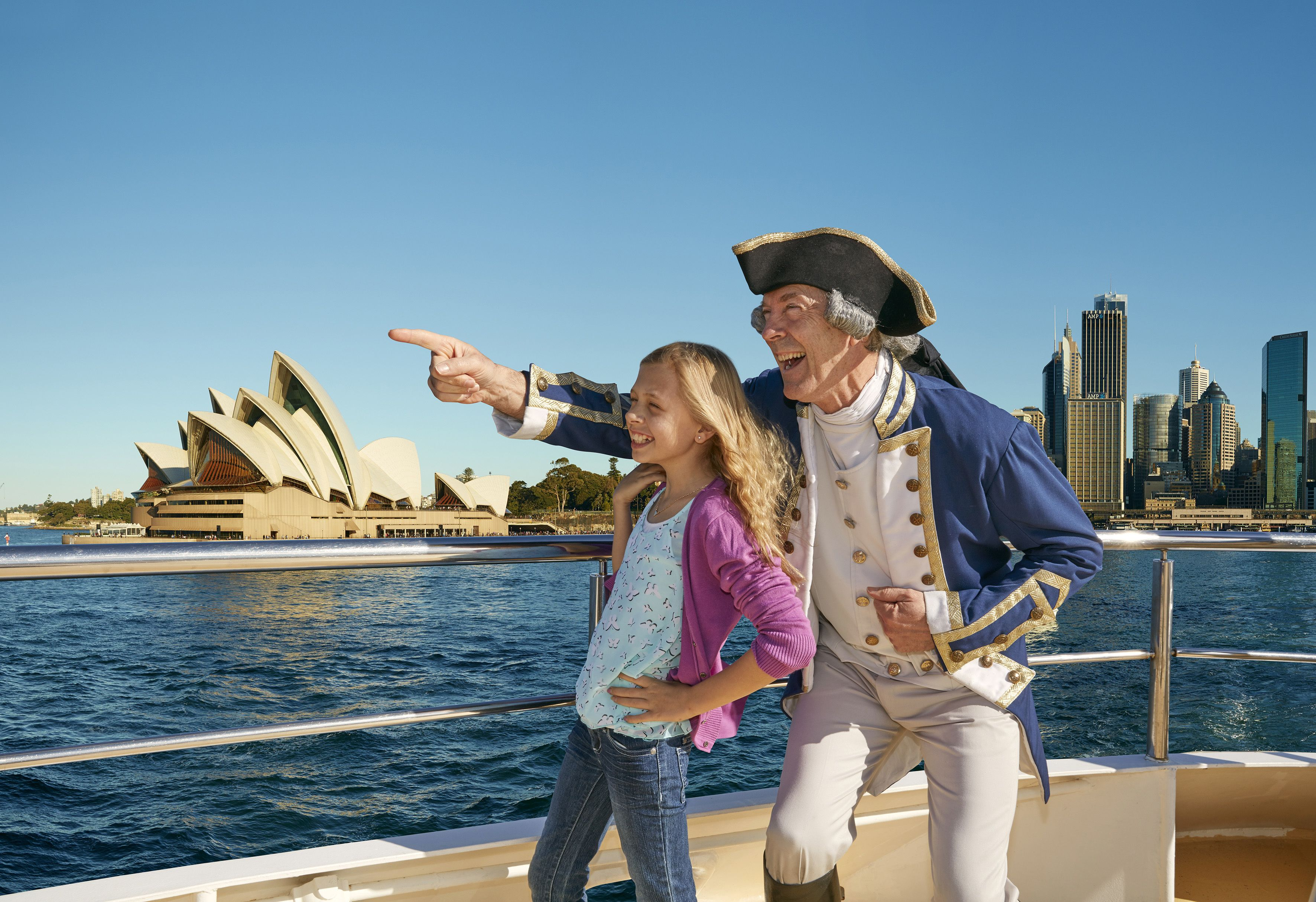 Hop-on, hop-off-Explorer-cruise in de haven van Sydney