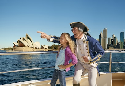 Child aboard a cruise boat on Sydney Harbour