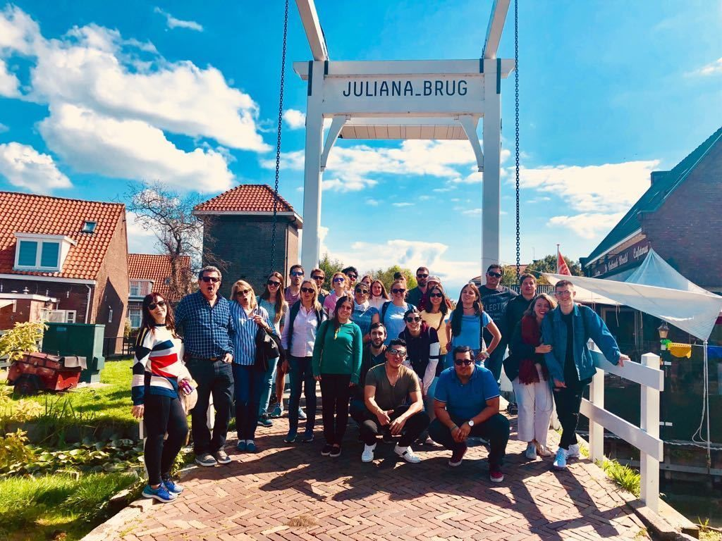 Group tour of Amsterdam