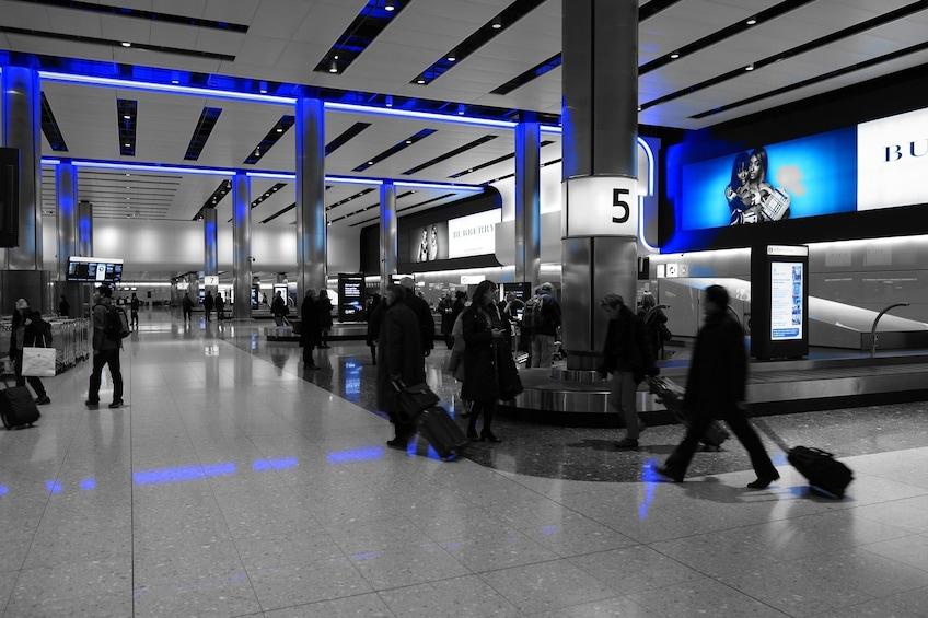 Show item 4 of 4. Baggage claim at Buffalo Niagara International Airport