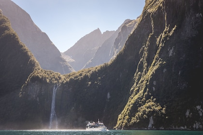 Boat on the Milford Sound
