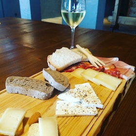 Bread, cheese and wine in Portugal