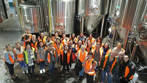 Group on tour at Monteith's Brewery