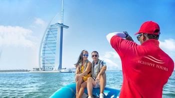 90 minute Speedboat Tour:Marina,Atlantis,Palm & Burj Al Arab