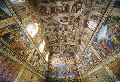 Ceiling inside the Sistine Chapel