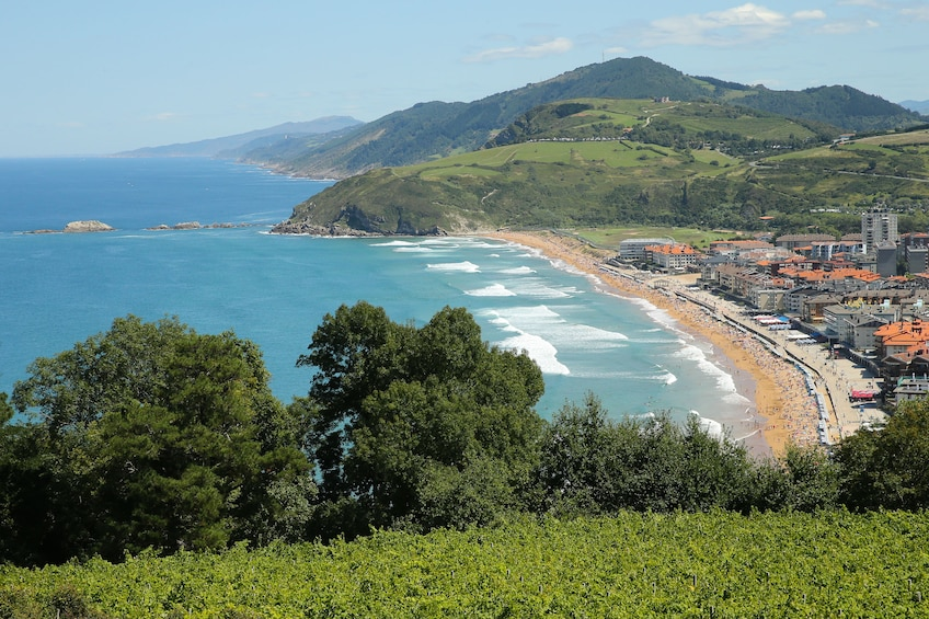 Show item 2 of 9. Landscape day view of Getaria, Gipuzkoa