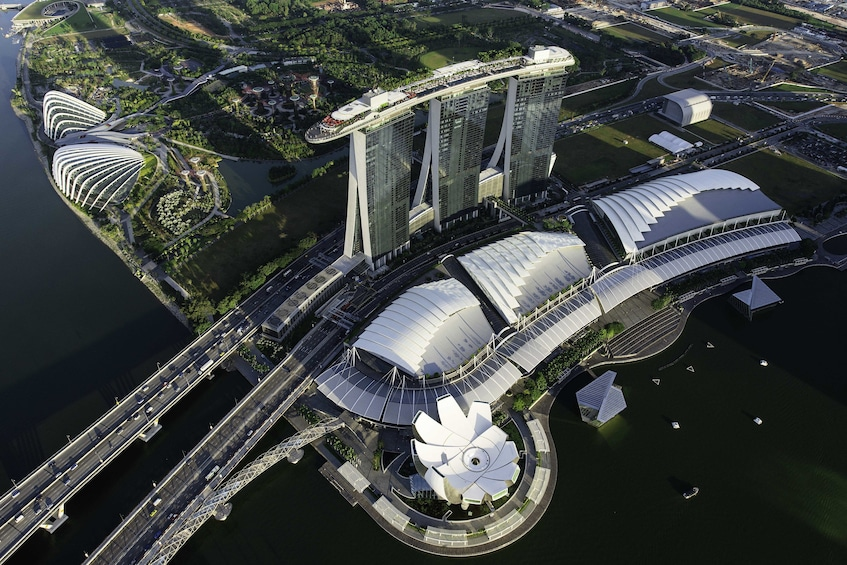 Show item 8 of 8. Aerial view of Singapore
