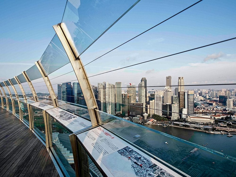 Show item 5 of 8. View from Sands SkyPark Observation Deck in Singapore