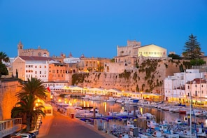 Day trip to Menorca by boat with Menorca full day bus tour