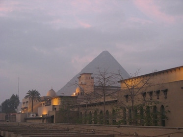 Pyramids in the distance in Egypt