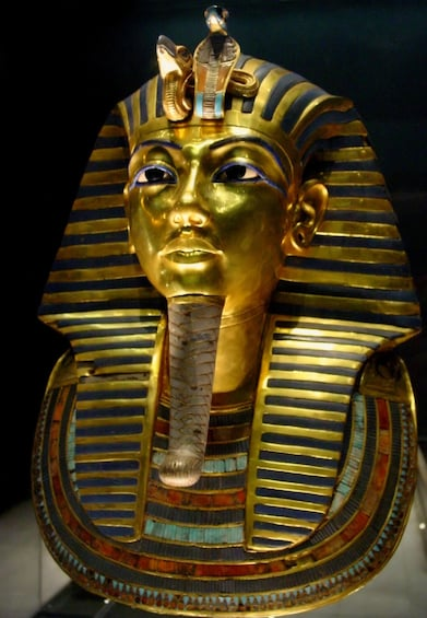 Show item 5 of 7. Golden bust of an Egyptian Pharoah