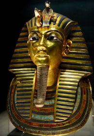 Golden bust of an Egyptian Pharoah