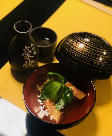 Soup at a Japanese restaurant