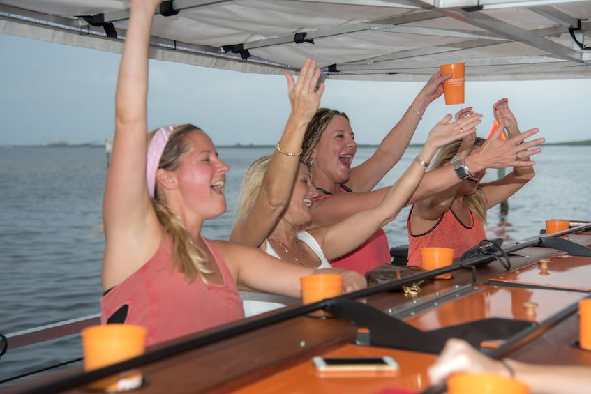 Show item 1 of 8. Woman having fun on the Cycleboat Fun Cruise in Fort Lauderdale