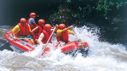 White water rafting group in Bali