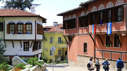 Tourists in Plovdiv