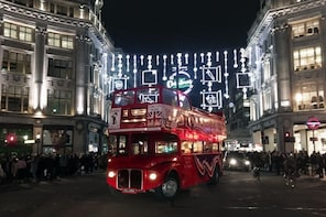 London Christmas Lights Tour by Vintage Bus