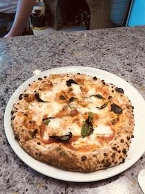 Freshly made pizza in Napoli