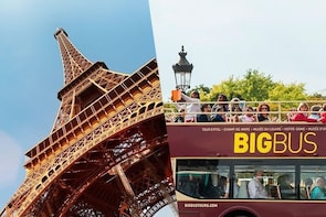 Eiffel Tower Second Level With Host + Big Bus 1-Day Pass