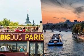 Big Bus 1-day & Bateaux Parisiens Seine River Cruise