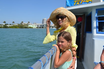 Mother and child on a boat in Clearwater