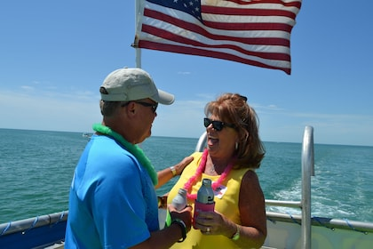 Couple on a cruise boat in Florida