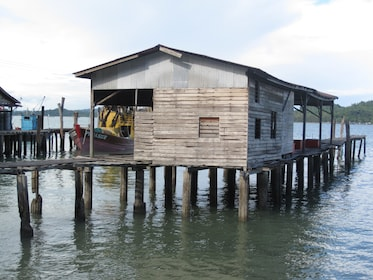 Wooden house on the water on Pangkor Island
