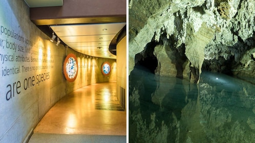 Combo image of Maropeng and Sterkfontein Caves