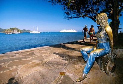 Brigitte Bardot statue on the coast of Buzios