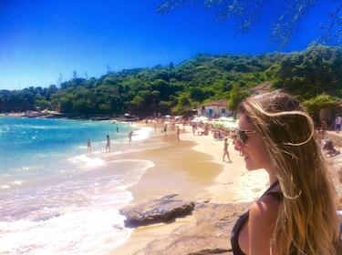Woman on the beach in Buzios