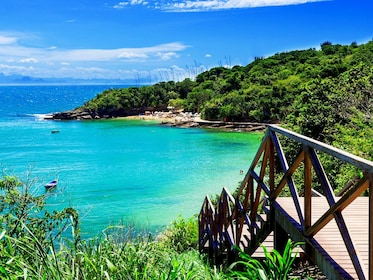 Steps to the beach and the clear blue water of Buzios