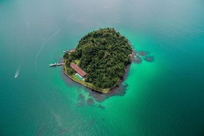 Heart-shaped island in Angra dos Reis Archipelago