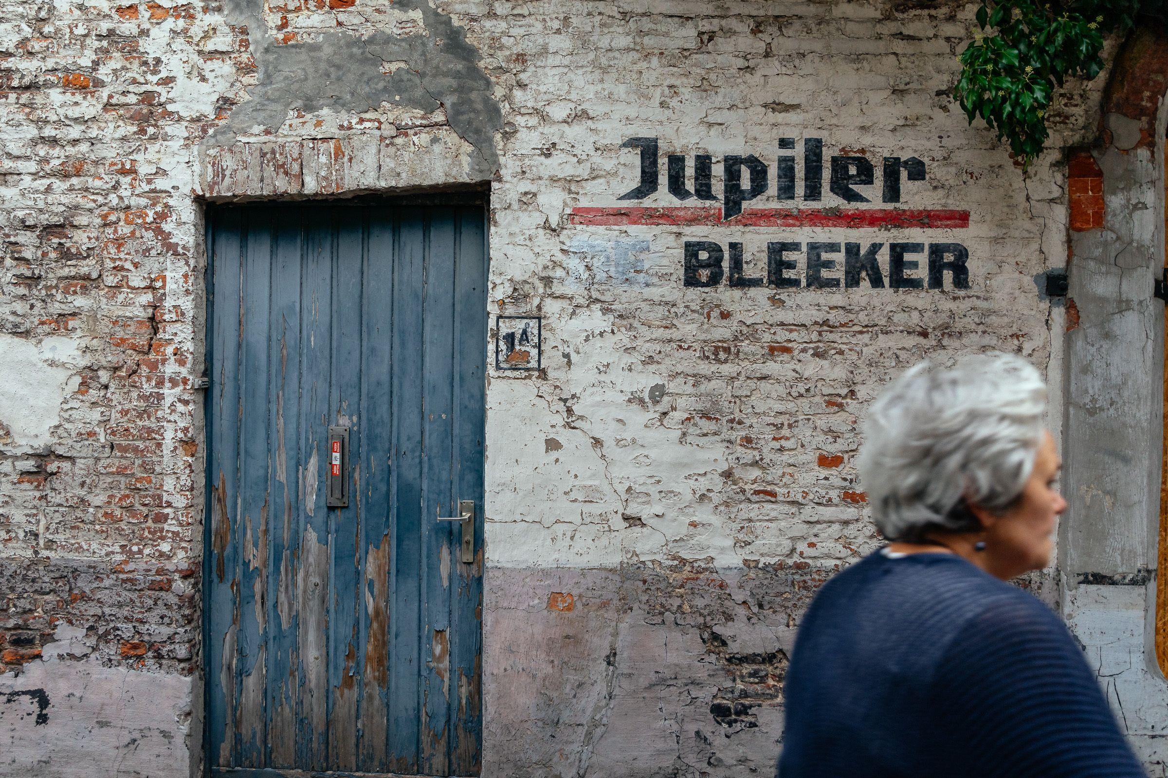 Entrance to Jupiler Bleeker in Bruges