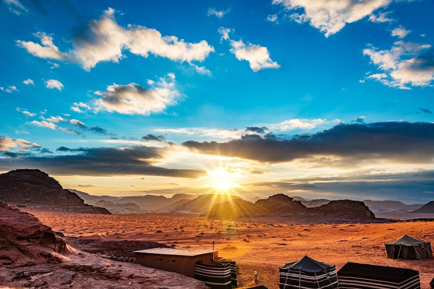 Show item 1 of 10. Sunset views of Wadi Rum