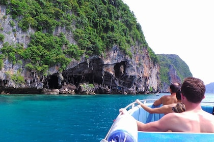 Boating group on Phi Phi Island