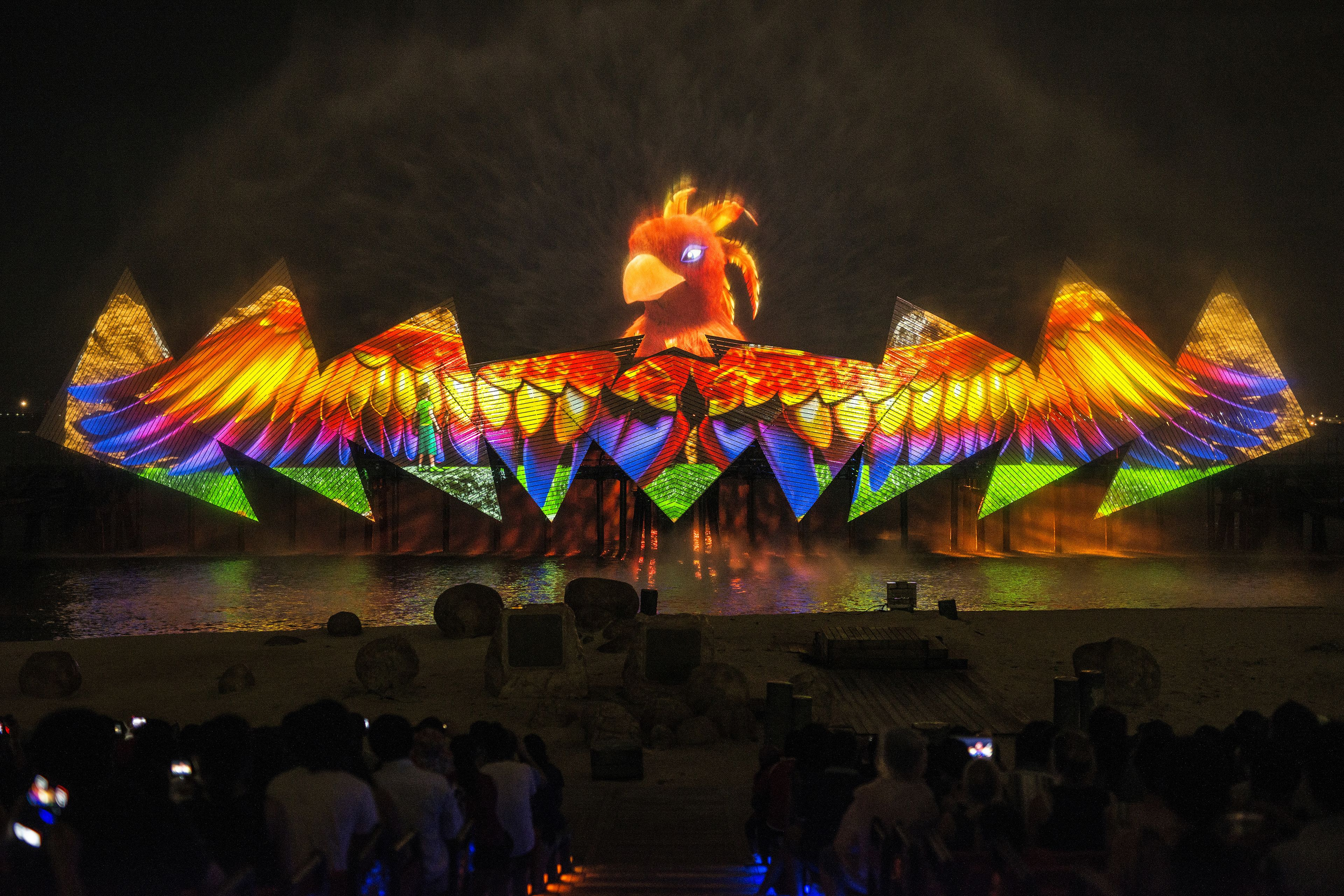 Wings of Time light show in Singapore