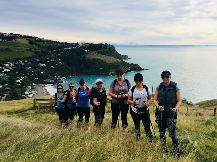 Show item 3 of 10. Group on a guided crater rim walk in Christchurch