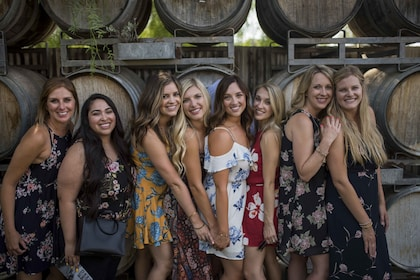Group of ladies at a winery in Santa Barbara