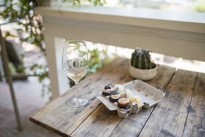 Wine tasting with a flight of 6 delectable mini-cupcakes in Santa Barbara