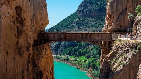 Caminito del Rey bridge in Spain