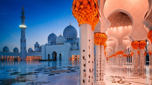 Sheikh Zayed Mosque at night in Abu Dhabi