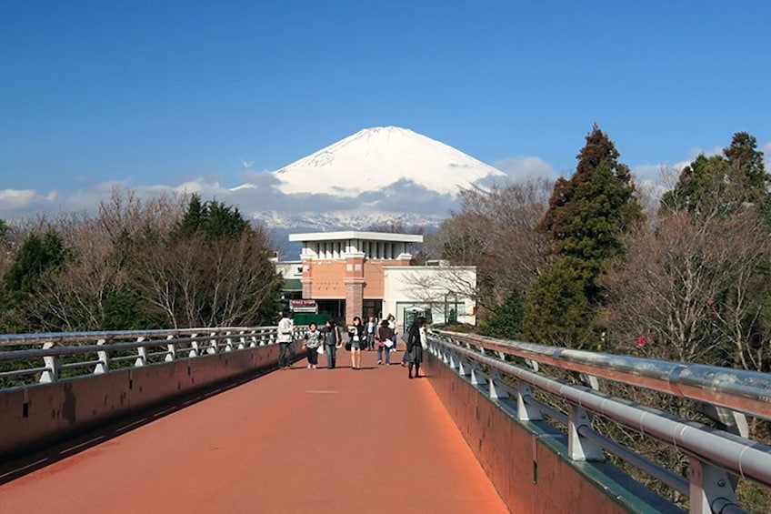 Show item 3 of 8. Bridge with Mt Fuji in the background in Japan