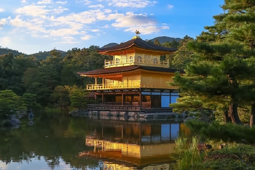 Show item 1 of 5. Temple on a lake in Japan