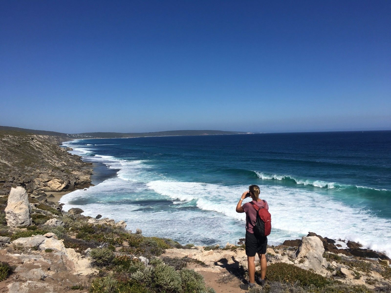 Woman visiting the beach in Margaret River