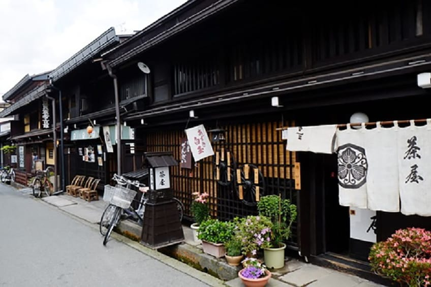 Show item 3 of 7. Street and buildings in Takayama