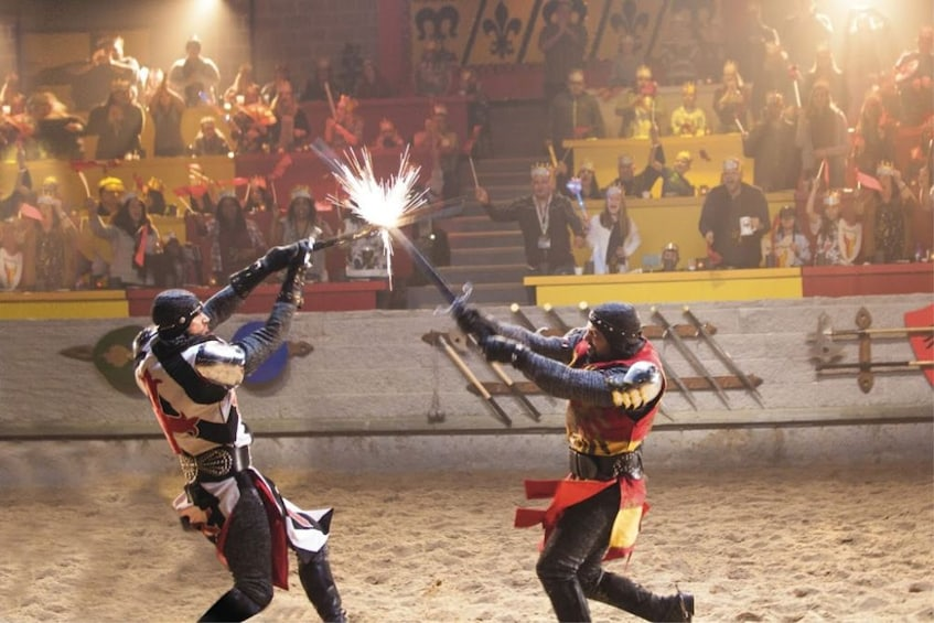 Show item 3 of 9. Sword fight at Medieval Times in Atlanta